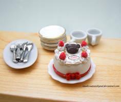 Teddy Bear Christmas Cake by SmallCreationsByMel