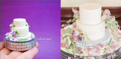 Purple Wedding Cake [Commission] by SmallCreationsByMel