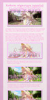 Kobato. sig tutorial part 1 by Suwun