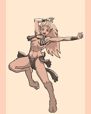 Satyr Dancer by MajorKiz