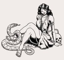 Moon Priestess Shaded by MajorKiz