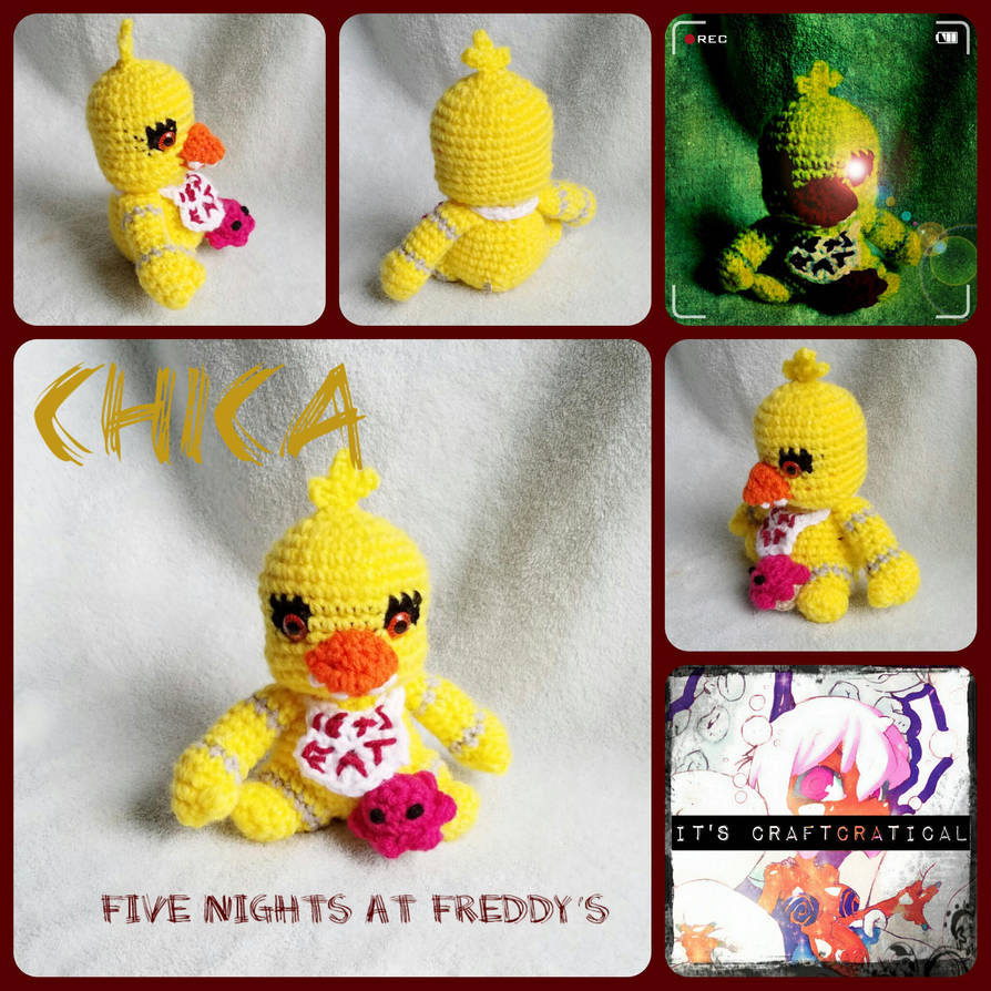 Crochet Chica And Cupcake Fnaf Doll By Roxyfierce On Deviantart