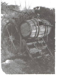 an old cart and barrell by ciaranmc