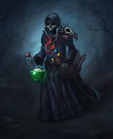Undead alchemist by Oxeren