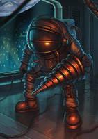 Astronaut Big Daddy (Bioshock fanart) by Oxeren