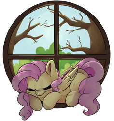 Fluttershy's Window by CutePencilCase