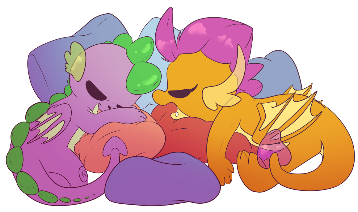 _commission__sleepover_by_cutepencilcase
