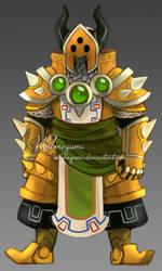 Aiden - Iron Knuckle armor concept by Webmegami
