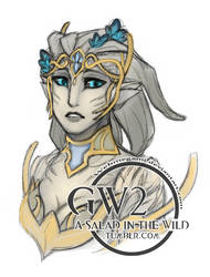 GW2 - Elywya's portrait by Webmegami