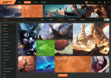DeviantArt Homepage Redesign by Crelcreation