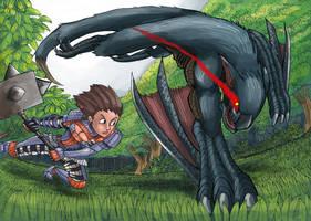 Nargakuga fight by AMBONE105