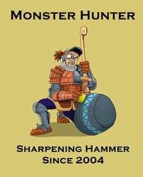 Hammer is a sharp weapon in Monster Hunter by AMBONE105