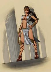 Wonder Woman redesign comp by Oniphoenix