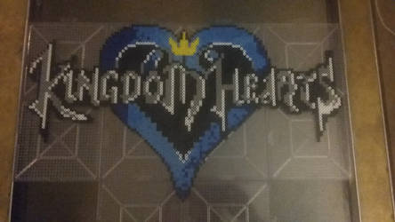 Kingdom hearts logo perler by pyguy7
