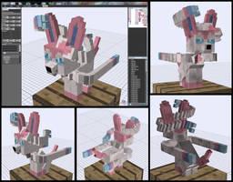 Minecraft Sylveon Mob Model by FuzzyAcornIndustries