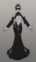 Lady Lanfiel- Elven Sorceress by Dunlaoch