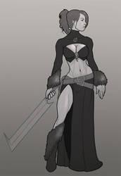 Lady Azriel- the Human Battlemage by Dunlaoch