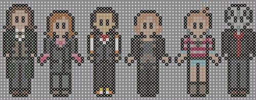 Doctor who perler beads 10 by geek-2perlerbeads