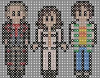 Doctor who Seven keys perler beads  by geek-2perlerbeads