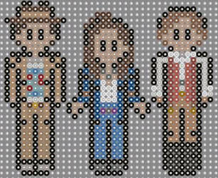 Doctor who Ultimate Adventure perler beads  by geek-2perlerbeads