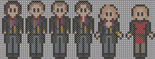 Curse of the Fatal Death Doctor who perler beads  by geek-2perlerbeads