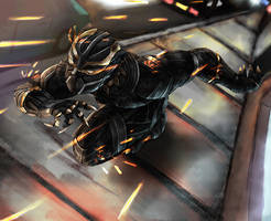 Black Panther by vionixsc