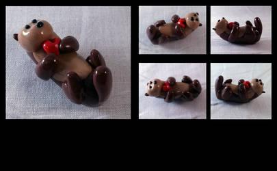 Valintine's Day Love Otter by AuroraStars