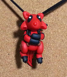 Deadpool Wolf Cub Necklace by AuroraStars