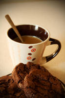 Good morning coffee and chocolate cookies ^^ by faithkata