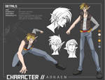 character ref ADRAEN by SoulBeatManga