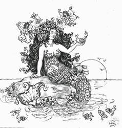 My First Mermaid by ValerieJoyLauria