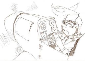 Speed Paint Pilot by hikarikun