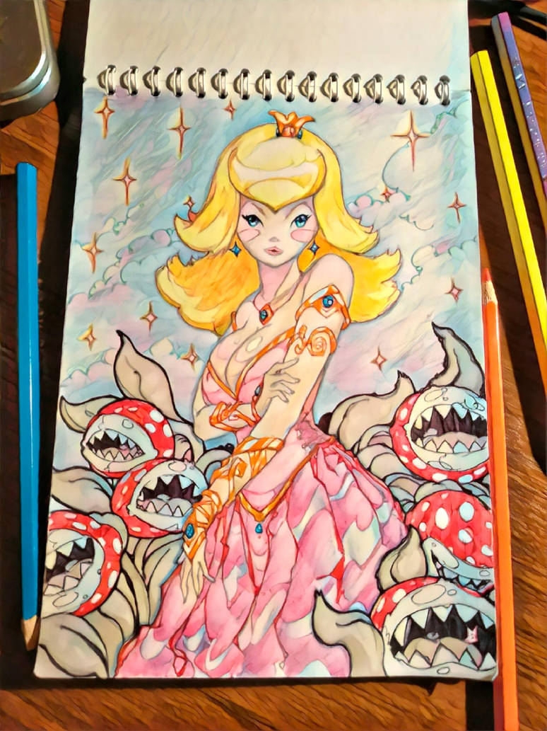 Peach Princess (Another Side) by Mazzacho