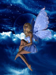 fairy in the night light by samia1994