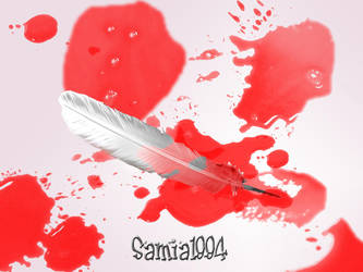 Bloody fether by samia1994