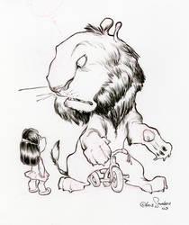 Lion and Trike by alohalilo