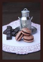 Chocolate Macarons by lotusleaf