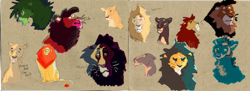 Many Lions by Wilchur