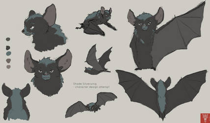 Shade Silverwing - bat character design attempt by Wilchur