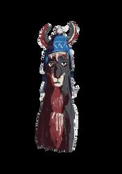 Llama in a Hat by Wilchur