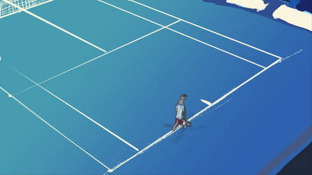 Tennis is a lonely game by Wilchur