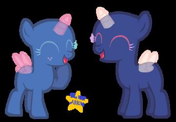 Laughing Foals | MLP Base by BlueRoseARROW