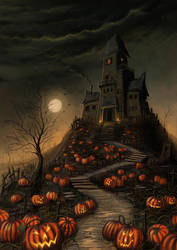Halloween Mansion by jerry8448