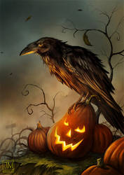 Halloween Raven by jerry8448