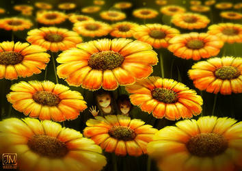 Among flowers by jerry8448