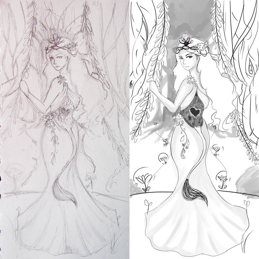 Ce: Huldra Princess by drawwithme15