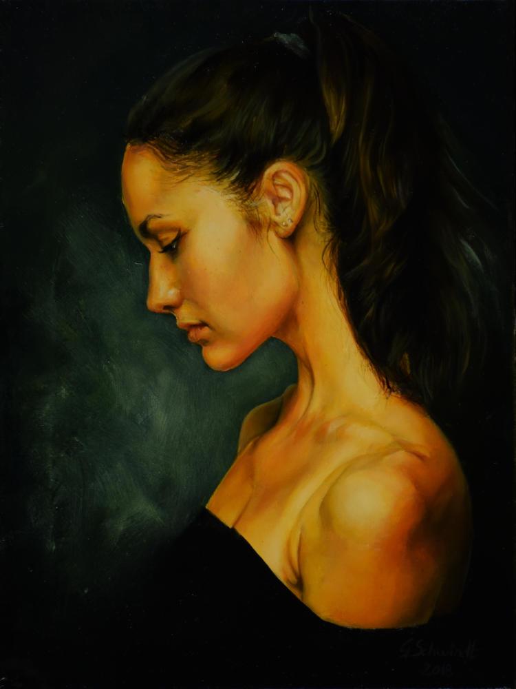 female portrait by gschwindt