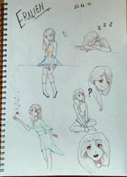 Eralien - Messy Sketchbook Page by Skylar-Arts