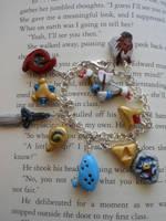 Ocarina of Time Charm Bracelet for sale by JenniferSlattery