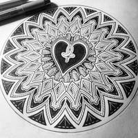 Heart mandala by Zwartmetaal